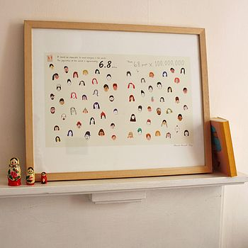 'All The People In The World' Print