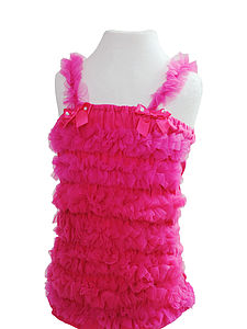 Hot Pink Ruffle Pettiskirt Top - fancy dress