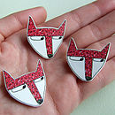 Fox Illustrated Pin Badge Brooch