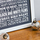 Small grey Personalised Christmas Traditions Print