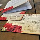 Floral Vintage Postcard Detail