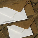 Envelope Options