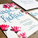 Hand Lettered Watercolour Wedding Invitation
