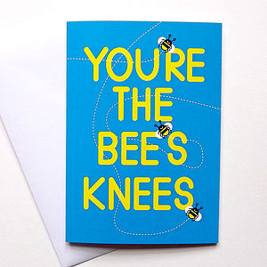 Cute Anniversary Card 'Bees Knees' - anniversary cards