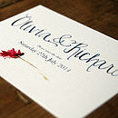 Hande Lettered Watercolour Save the Date Card