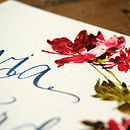 Hande Lettered Watercolour Wedding Inivtation Detail