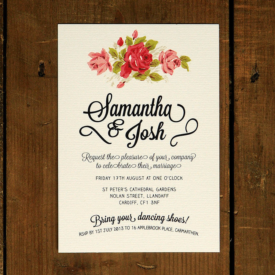 Wedding Cards Floral Wedding Invitation Floral Chalkboard Wedding