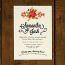 Floral Whiteboard Wedding Invitation