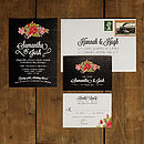 Floral Chalkboard Wedding Invitation