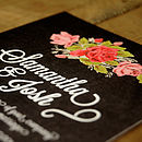 Floral Chalkboard Wedding Invitation Detail