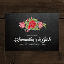Floral Chalkboard Save the Date Card