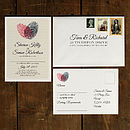 Fingerprint Heart Wedding Invitation Suite