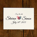 Fingerprint Heart Wedding Save the Date Card