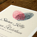Fingerprint Heart Wedding Invitation And Save The Date