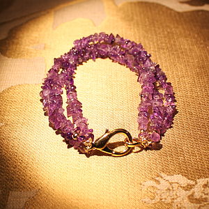 Amethyst Three Strand Bracelet Inspire Rocks - women's jewellery