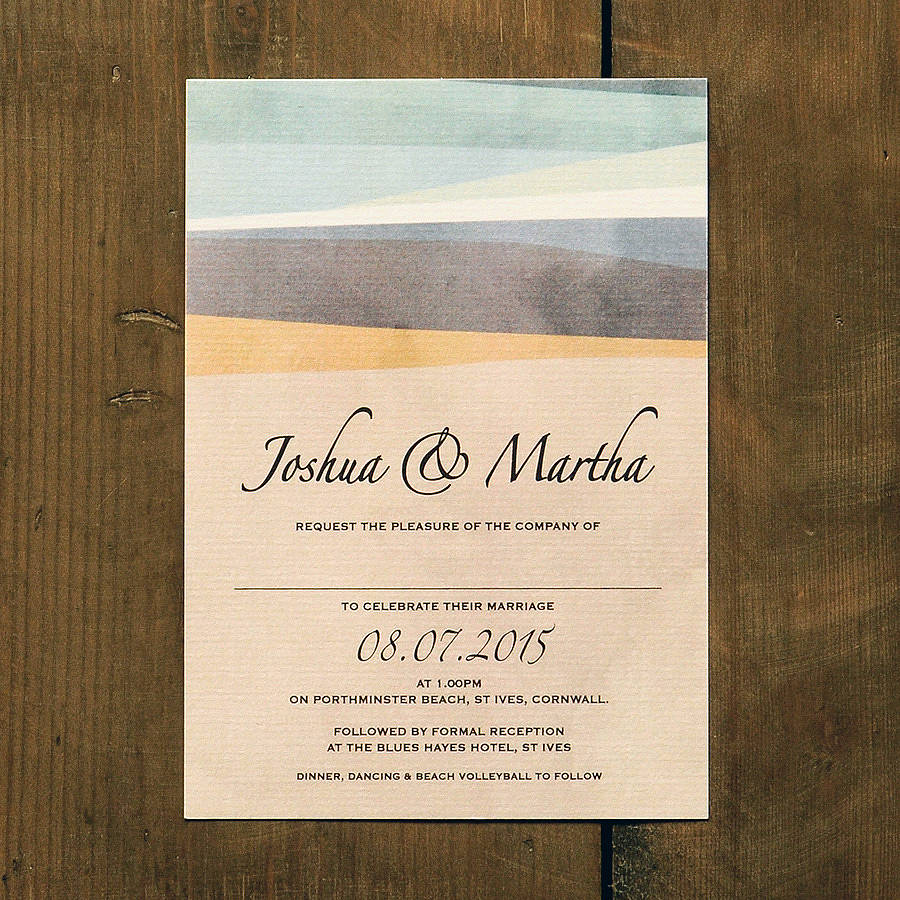 St Ives Bay Wedding Invitation Envelope Options