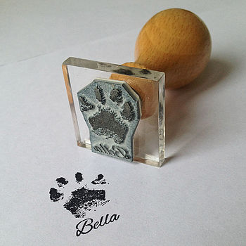 Personalised Paw Print Stamp For Dog Lovers