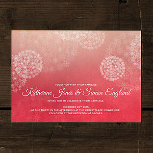 Winter Wonderland Wedding Invitation - save the date cards