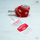 Personalised Hanging Spotty Robin