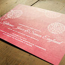 Winter Wonderland Wedding Invitation Detail