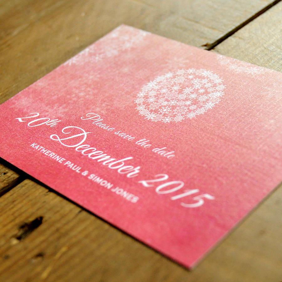 Winter Wonderland Wedding Invitation Detail. Winter Wonderland Save The  Date Card Detail