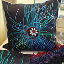 Ultraviolet Jellyfish Art Print Cushion Cover