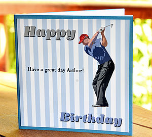 Men's Personalised Golf Card