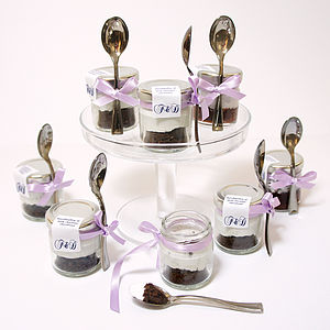 Fairy Tale Wedding Favours Cakes In Jars - cakes & sweet treats