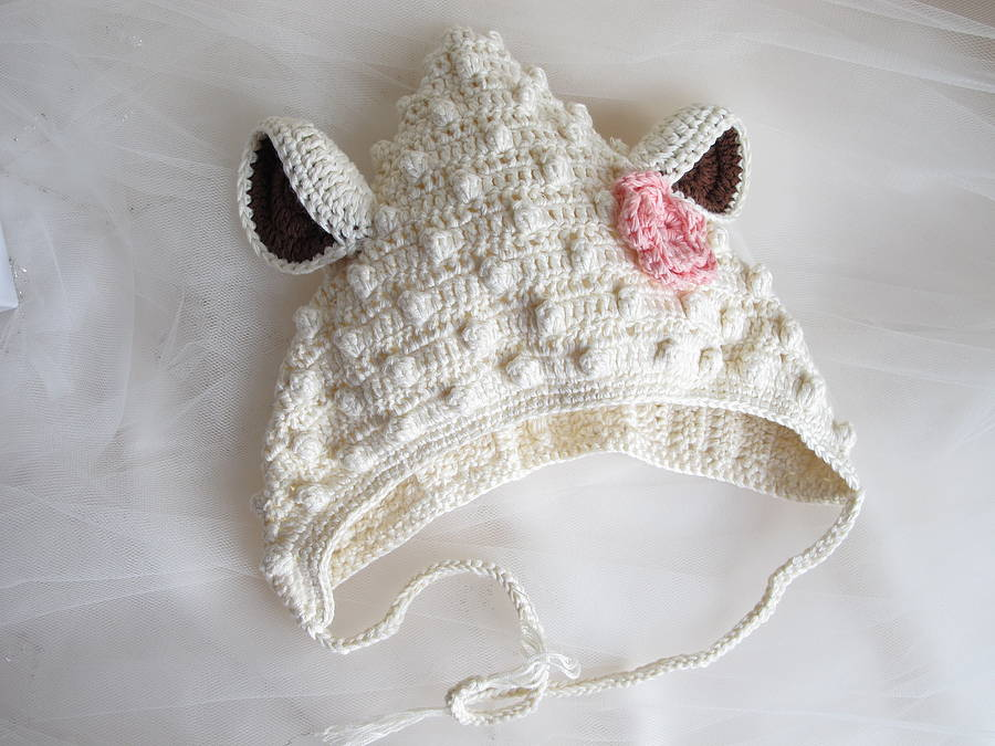 Crocheting By Hand : Hand Crochet Bamboo Lamb Hat