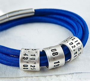 Personalised Blue Storyteller Bracelet