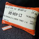 50% Off! London Travelcard Cushion November