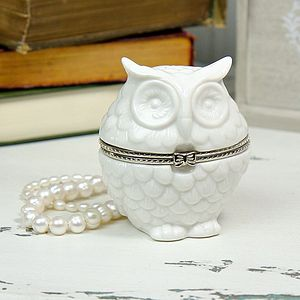 Owl Shaped Trinket Box - women's jewellery