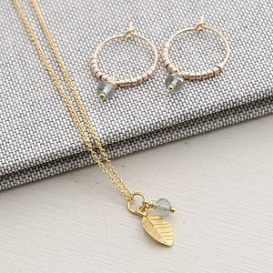 Moss Aquamarine And Gold Jewellery Set - jewellery