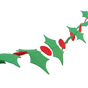 Holly Christmas Garland - decorative accessories