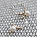 Freshwater Pearl Petite Hoop Earrings
