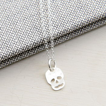 Petite Sterling Silver Skull Necklace