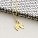 Precious Metal Angel Wings Necklace