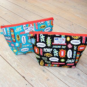 Superhero Toiletry Cosmetic Wash Bag - make-up & wash bags