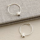 Petite Star Hoop Earrings