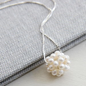Freshwater Pearl Sphere Necklace - necklaces & pendants