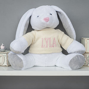 Personalised Bunny Soft Toy - soft toys & dolls