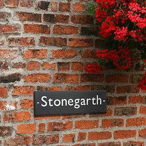 British Slate House Sign Four Sizes - signs