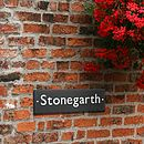 British Slate House Sign Four Sizes