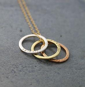 Tricolore Triple Hoop Necklace - necklaces & pendants