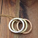 Personalised Tricolore Hoop Necklace