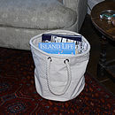 Canvas Home Storage Bucket Bag, Medium