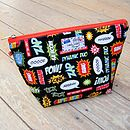 Superhero Toiletry Wash Bag Black Medium