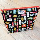 Superhero Toiletry Wash Bag Black Large