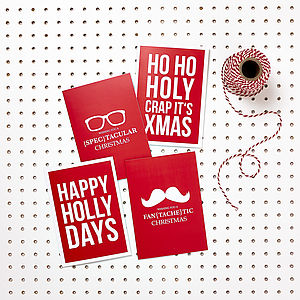 Decidedly Different Christmas Card Pack - movember gifts