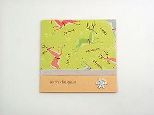 Handmade Christmas Reindeer's Card